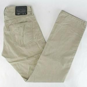 Levis Mens 514 5 Pocket Jeans Sz 32x34 Tan